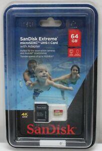 SanDisk Extreme microSDXC UHS-I Card 64GB w/ Adapter