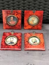 Set Of 4 Portrait Miniatures