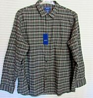 APT.9 Men's XXL Slim Fit Soft Touch Flannel Plaid Long Sleeve Shirt New Tags