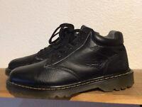 Men's Dr. Martens Ankle Boots Sz 11 M Harrisfield Black Pebbled Leather Lace Up
