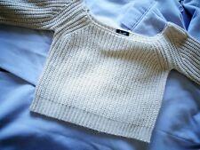 Bardot knit off shoulder crop