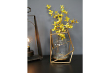 Geometric Gold Metal Candle Holder Lantern / Flower Vase
