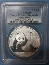 2015 China 10 Yuan Panda Silver 1 OZ PCGS MS69