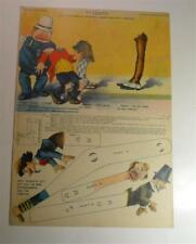 VINTAGE HAPPY HOOLIGAN ALPHONSE GASTON NEW YORK NY JOURNAL PAPER DOLL 1902 UNCUT
