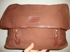 GUESS HEAVY BROWN COTTON CARRYALL XLARGE SHOULDER CROSS BODY BAG