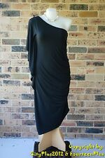 Plus Size City Chic Dress - Size XL (22) - BLACK DRAMA - New without tags