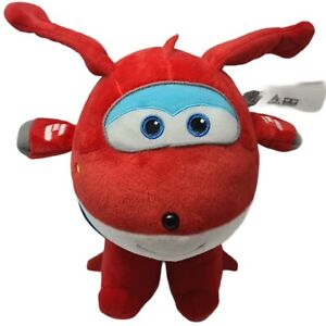 PLUSH MASCOT SUPER WINGS JETT 18 CM Tall  26 CM With His wings Up BRAND NEW