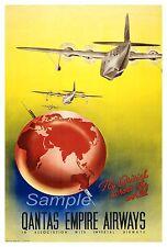 Vintage Qantas Pacific Islands Travel Poster A3//A2//A1 Print