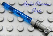 NEW Lego Star Wars DARK BLUE LIGHT SABER - Jedi Minifig Blade Gray Hilt Weapon