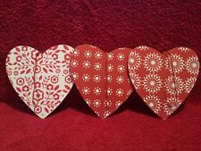 Trio Of Decorative Wooden Hearts