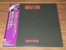 Japan PROMO Motley Crue card sleeve CD mini LP MORE LISTED Shout At The Devil