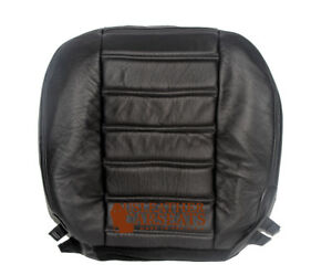 2003-2006 2007 Hummer H2 Passenger Side Bottom Leather Seat Cover Black