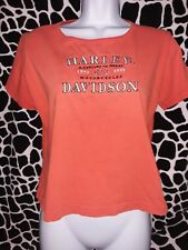 HARLEY DAVIDSON Adult small ladies orange Farmington Hills MI 100 years 2003