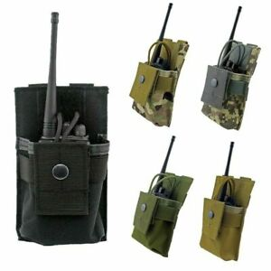 Outdoor Molle Radio Walkie Talkie Holder Bag Tactical Military Magazine Pouch