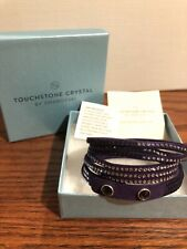 Touchstone Crystal Swarovski Wrap Star Dark Purple Bracelet New In Box