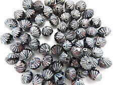 Tchèque Look Vintage Black Lantern perles 9 mm Pack de 10