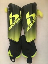 Brava Soccer Shin Pads Large Blackbrgrn Fits 5'7�-5'11� Great Condition