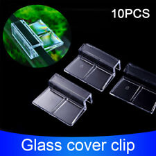 10pcs Glass Cover Clip Easy Install Support Holder Fish Tank Stand Clear Home