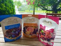 Lindt Fruit Sensation Dark Chocolate Balls, Grapefruit, Raspberry, Blueberry