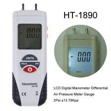 LCD Digital Manometer Differential Air Pressure Meter Gauge ±13.79kPa ±2.0