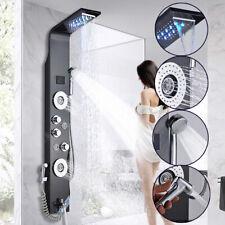 ORB LED Duschpaneel Edelstahl Handbrause Regendusche Duscharmatur Duschset