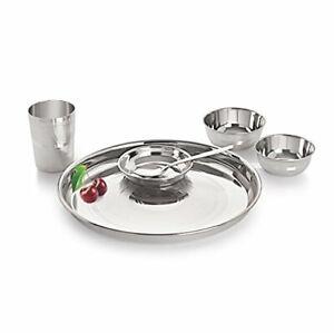 2 x Neelam Stainless Steel Diamond Touch Dinner Set, 6 pcs Free Ship