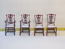 Dining Chair Set Bespaq ?  Armchairs Side Chairs Furniture Dollhouse Miniatures