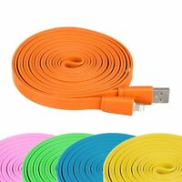 1m Colourful Charging Data Flat Sync Charge USB Cable 8 Pin for iPhone iPad iPod