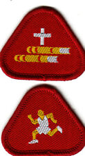 Boy Cub Scout Badges Ext BIBLE READER + ATHLETE Proficiency CSI Ireland