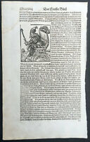 1574 Sebastian Munster Antique Engravings to Text of Tartar King in Central Asia