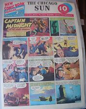 Captain Midnight Sunday #3 by Jonwon from 7/19/1942 Large Rare Full Page Size!