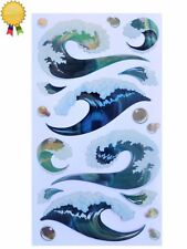 TSUNAMI WAVES Stickers Surf Ocean Sea Bubbles Surfer Wave Sticko Stickopotamus