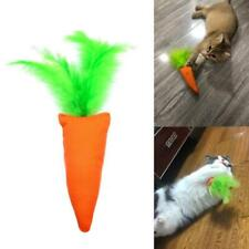 Carrot Shape Cat Kitten Chew Toys Catnip Interactive Feather Bite Scrathing Toy