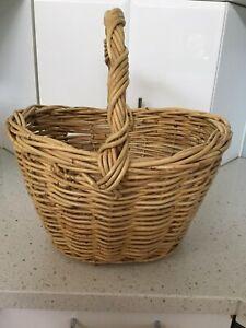 Large Solid Cane Basket