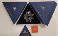 Swarovski Crystal~Snowflake Christmas Ornament~2003~Boxes & Papers~Limited Ed