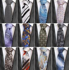 Gravata masculina clássica, com tecidos Jacquard Listrado Gravata Lenço paisley conjunto de presente