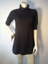 EILEEN FISHER charcoal turtle neck merino wool tunic sweater XS