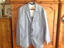 Mens Hugo Boss Casual Jacket Orange Label Size 56 Light Blue