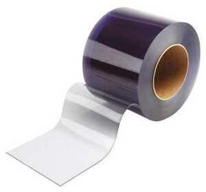 PVC Vinyl Strip Curtain Door Bulk Roll 12 Inch Wide Smooth Clear 150Ft