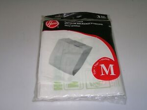 Genuine Hoover Vacuum Cleaner Bags Type M 3Pack 4010037M, Free Shipping