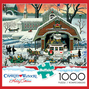 """Charles Wysocki """"Twas' The Twilight Before Christmas"""" 1000 Piece Puzzle W/Poster"""