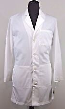 Landau Mens Physicians Lab Coat White SZ 34 Style 3124 WWSC Long Sleeve 5 Pocket