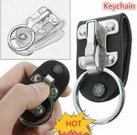 Quick Release Stainless Steel Detachable Key Chain Clip Ring Holder Key V6S3
