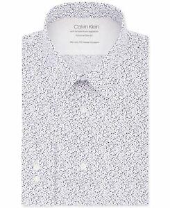 Calvin Klein Mens Dress Shirt Blue Size 15-15 1/2 Extra-Slim-Fit $79 052