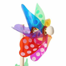 Windmill Children Kids Garden Decoration 7 Leaves Colorful Outdoors Spinner Toys