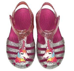 Crocs Toddler Girls Isabella Charm Casual Stylish Sandal Water Friendly size 6
