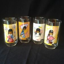 De Grazia DeGrazia CHILDREN OF THE SOUTHWEST 4 Glass Tumblers Drinking Glasses
