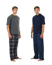 CARGO BAY Mens Check Stripe PYJAMAS PJ SET 2 Piece Nightwear Sleepwear Quality