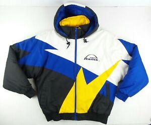 Vintage NFL Game Day Fans LA St.Louis Rams Puffer Jacket Size Men's Medium M