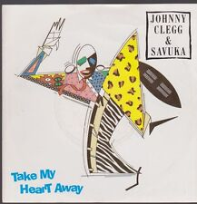 "7"" Johnny Clegg & Savuka Take My Heat Away / Scatterlings Of Africa 80`s EMI"